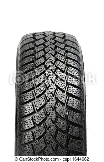 One automobile car wheel winter tyre isolated - csp11644662