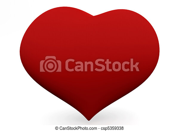 Line Art Love Heart : One big red heart isolated on white d love concepts stock