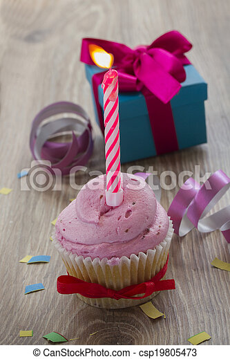 Tremendous One Birthday Cake On Table One Birthday Cupcake With Burning Birthday Cards Printable Opercafe Filternl