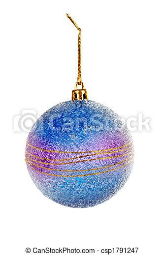 One blue Christmas ball - csp1791247