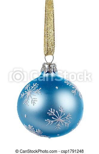 One blue Christmas ball - csp1791248