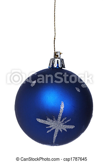 One blue Christmas ball - csp1787645