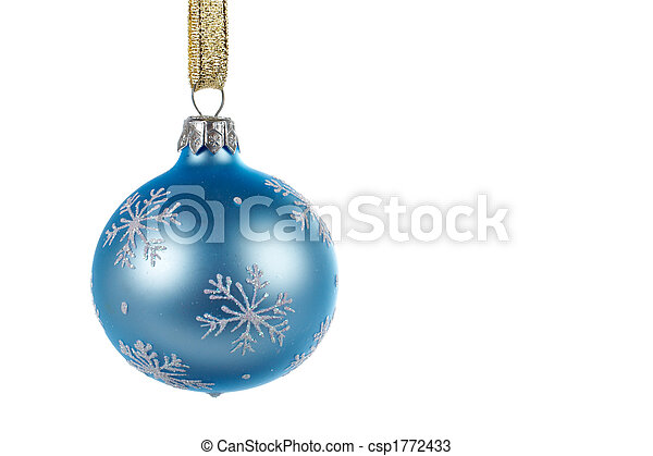 One blue Christmas ball - csp1772433