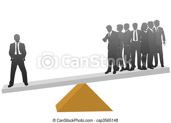 One business man worth his weight in many workers - csp3565148