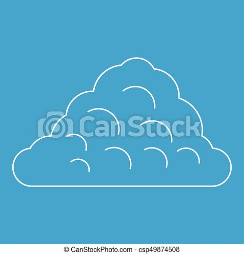 One Cloud Icon Outline Style