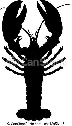 One crawfish. - csp13956146