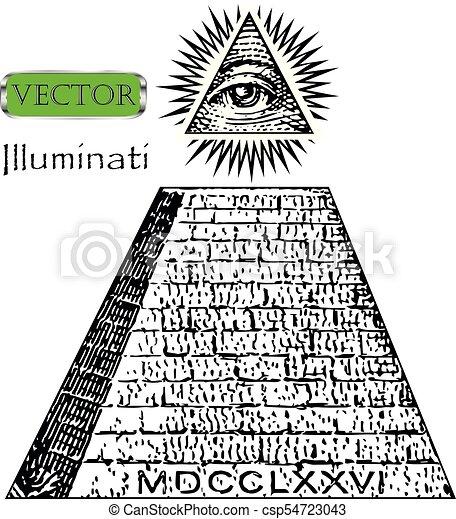 One Dollar Pyramid New World Order Illuminati Symbols Bill