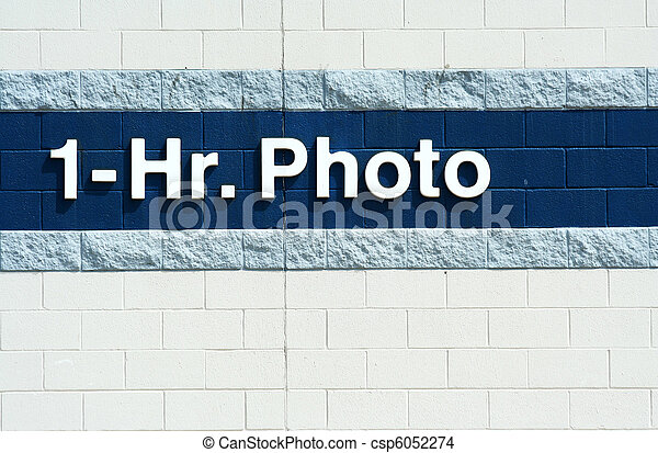 One hour photo sign - csp6052274