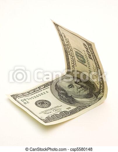 one hundred dollar bill - csp5580148