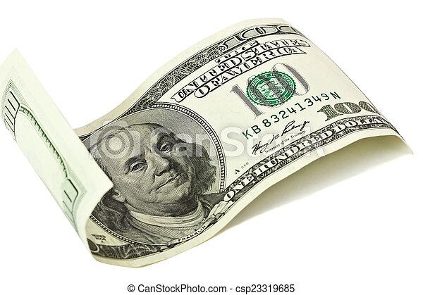 One hundred dollar - csp23319685