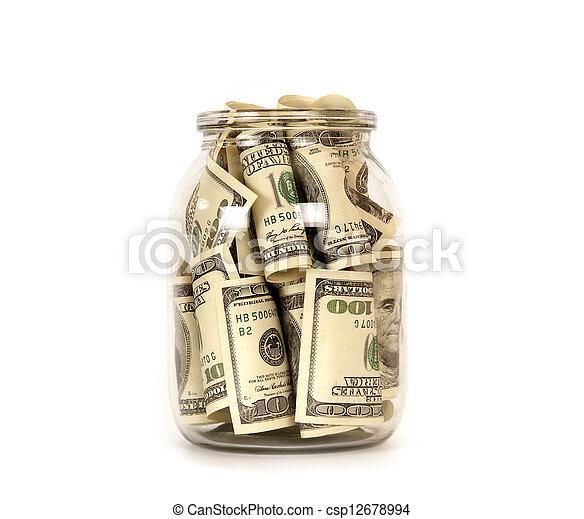 One hundred dollar - csp12678994