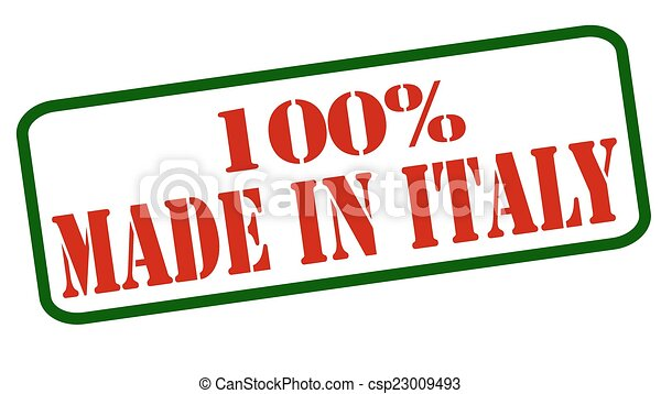 b293e26b91 One hundred percent made in italy. Rubber stamps with text one ...