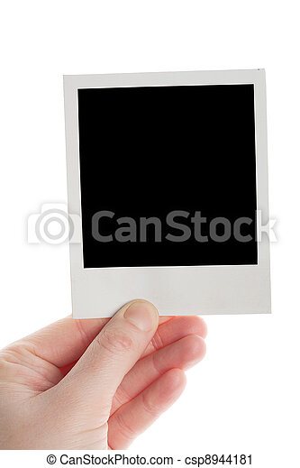 One instant photo in hand - csp8944181