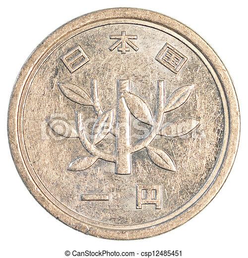 one japanese yen coin - csp12485451