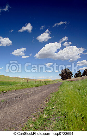 One Lane Gravel Road - csp0723694