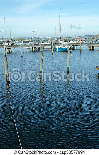 one little pieceful harbour in sweden - csp33577994