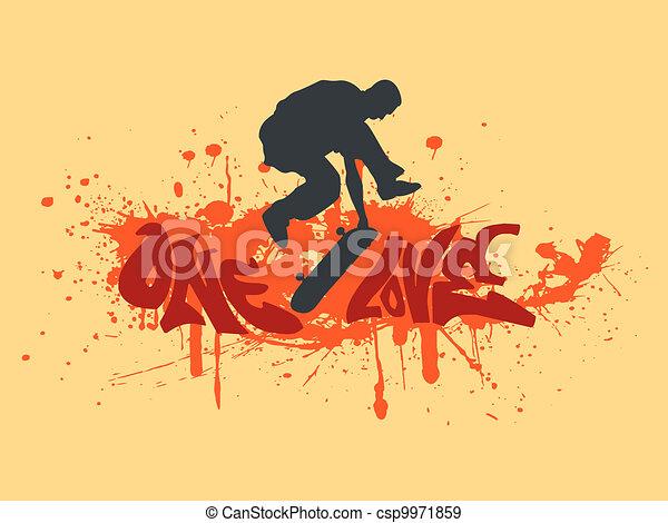 One love skateboarding - csp9971859