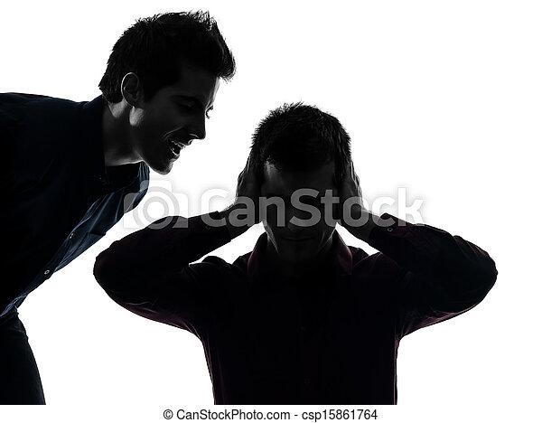 one man hearing voices - csp15861764