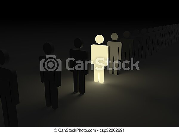 One man stood out from the crowd - csp32262691