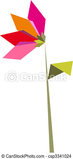 One Origami Vibrant Colors Flower Origami Vibrant Colors Flower