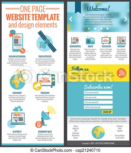 One page web site template - csp21240710