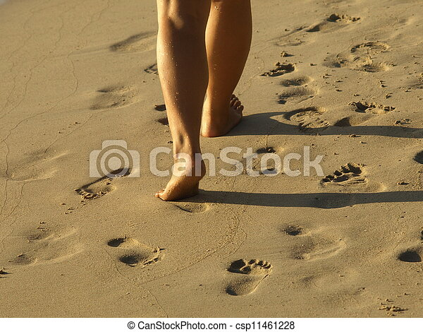 one person walking - csp11461228
