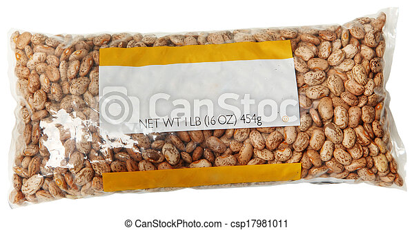 One Pound Blank Label Bag of Pinto Beans - csp17981011