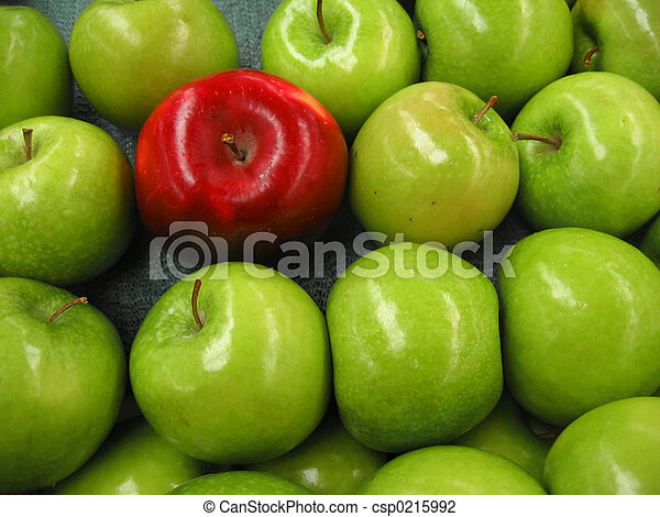 One Red Apple - csp0215992