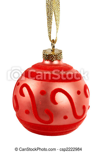 One red Christmas ball - csp2222984
