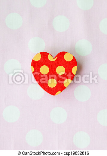 One red heart with pink background - csp19832816