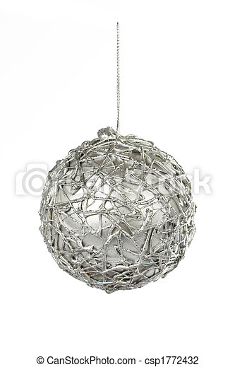 One silver Christmas ball - csp1772432