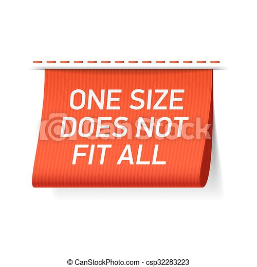 One size does not fit all label - csp32283223
