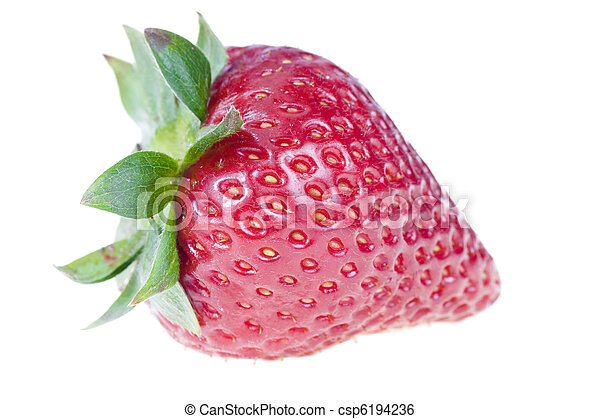 One strawberry, isolated on white - csp6194236