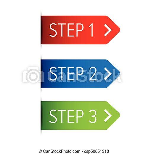 One Two Three steps ribbon - csp50851318