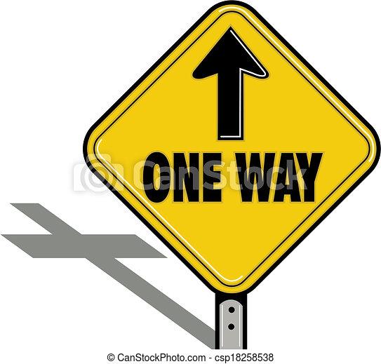ONE WAY religious sign - csp18258538