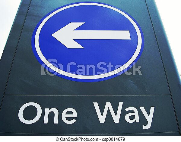 One Way Sign - csp0014679