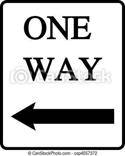 One Way  - csp4557372