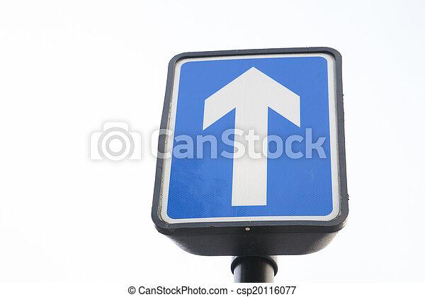 One Way Street Sign - csp20116077