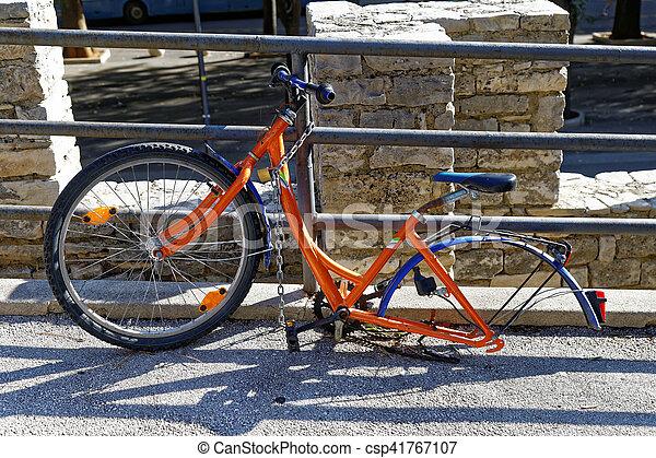 One wheel bicycle - csp41767107
