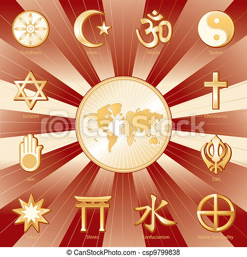 One World, Many Faiths - csp9799838