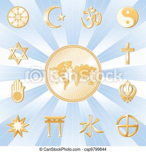 One World, Many Faiths  - csp9799844
