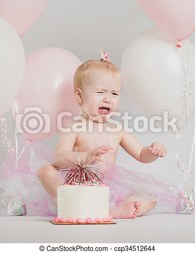 Fantastic One Year Old Birthday Portraits Adorable One Year Old Little Girl Funny Birthday Cards Online Alyptdamsfinfo