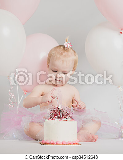 Terrific One Year Old Birthday Portraits Adorable One Year Old Little Girl Funny Birthday Cards Online Alyptdamsfinfo