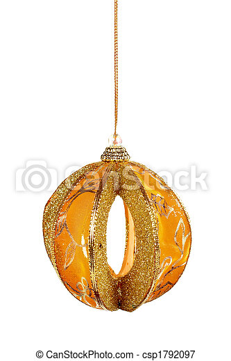 One yellow Christmas ball - csp1792097