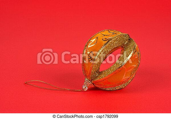 One yellow Christmas ball - csp1792099