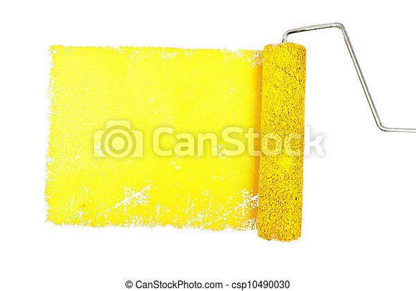 One yellow trace of painting - csp10490030