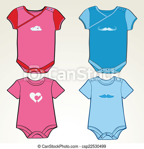 Onesie Template For Girls And Boys Eps Vectors  Search Clip Art