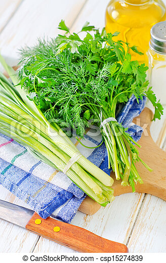 onion and other greens - csp15274839