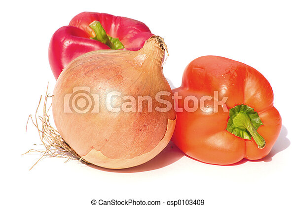 onion and peppers - csp0103409