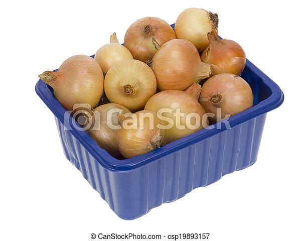 Onion in box - csp19893157